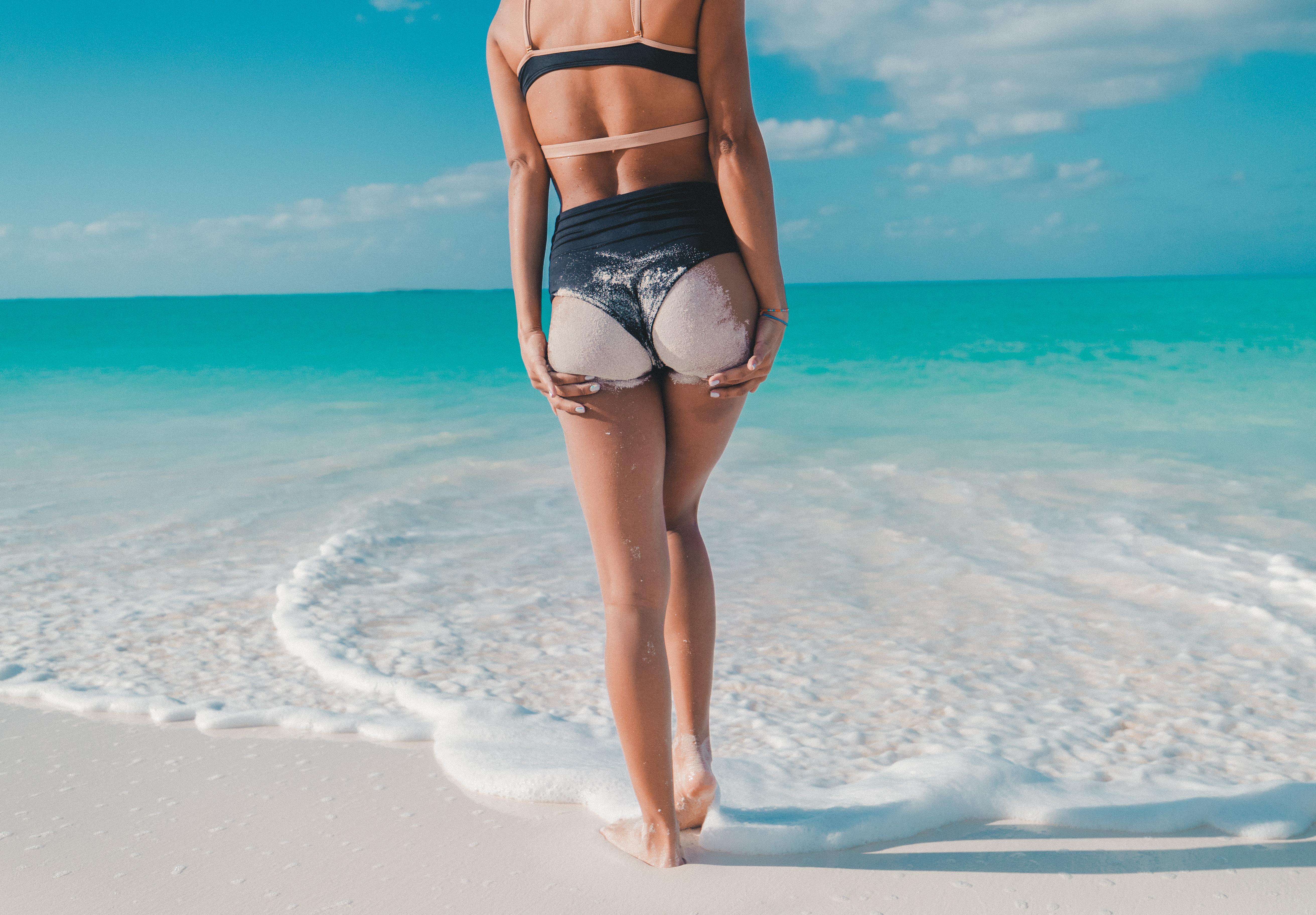 bottom on beach