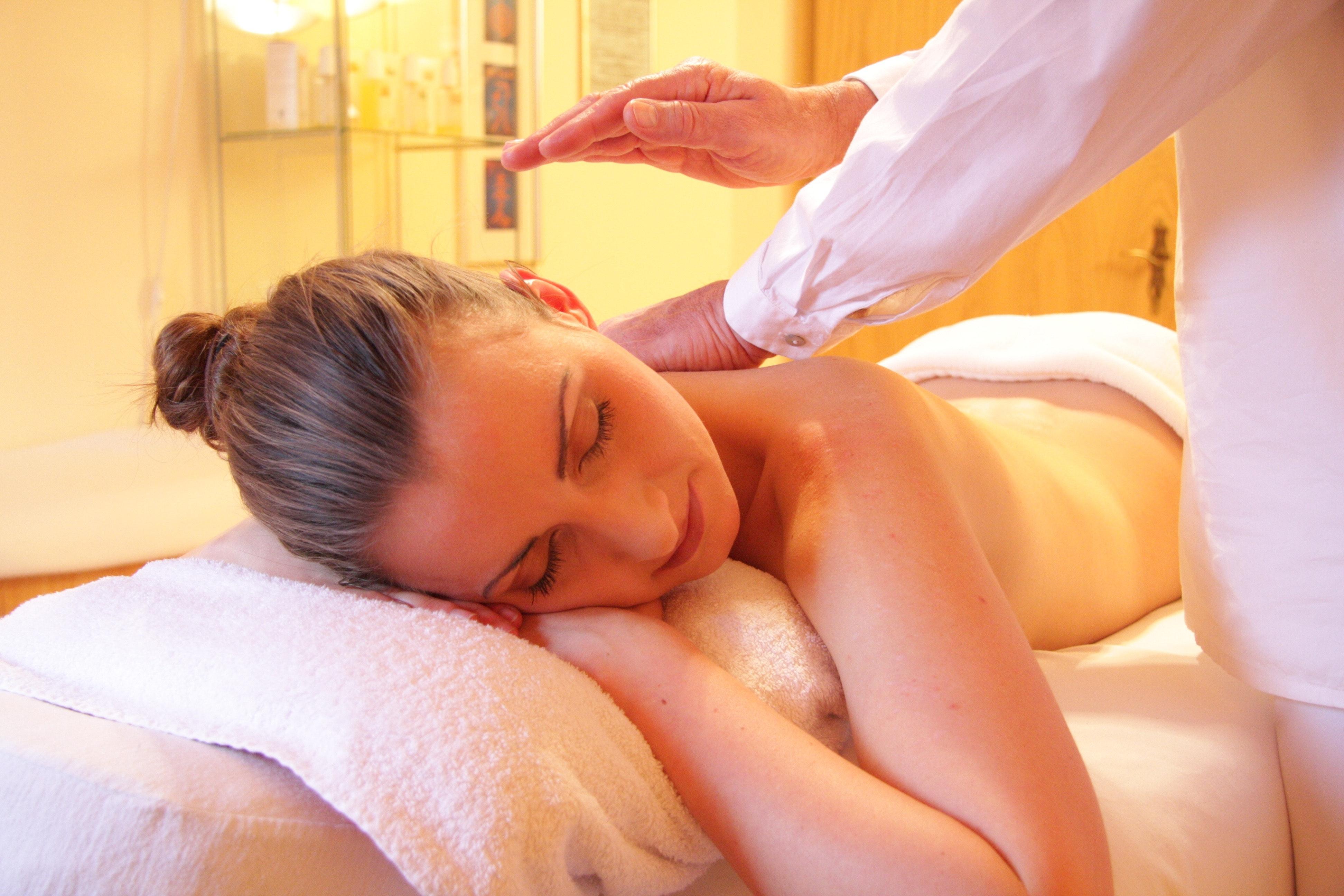 woman at spa treatment